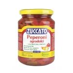 Peperoni Agrodolci in Strisce - Barattolo 370 ml vetro - Zuccato