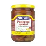 Peperoni Agrodolci in Strisce - Barattolo 580 ml vetro - Zuccato